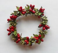 Great Finds Pillar Candle Ring Red With Greens Holiday Must Have