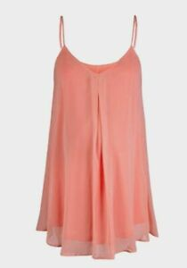 Rock-a-Bye-Rosie-Anastasia-Pink-Pleat-Front-Swing-Cami-Top-Womens-UK-Size-12-33