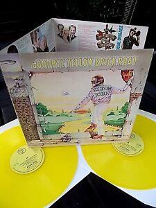 Elton-John-Goodbye-Yellow-brick-Road-Yellow-vinyl-Cat-no-DJE-29001-Near-MINT