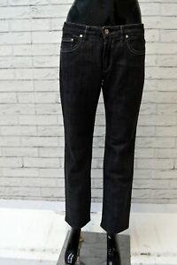 Jeans-Donna-TRUSSARDI-Taglia-29-Pantalone-Pants-Woman-Gamba-Dritta-Regular-Nero
