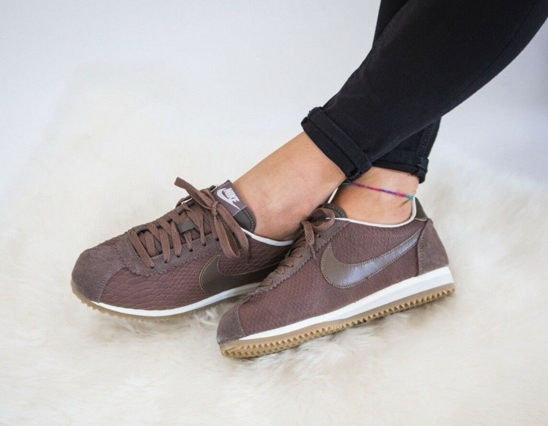 Da Donna Nike Classic Cortez Leather Prem Taglia 6.5 EUR 40.5 (833657 200) Palomino