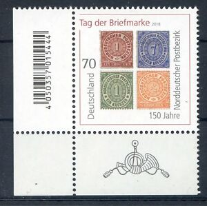 Bund-BRD-3412-Ecke-3-EAN-Code-70-Tag-der-Briefmarke-Postfrisch-2018