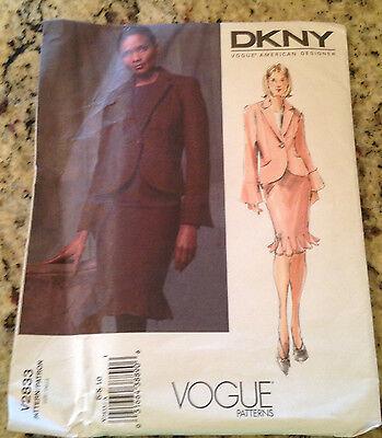 Vogue Pattern  #V2833 DKNY Misses Sizes 6-8-10 Jacket & Skirt Donna Karan UNCUT