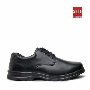 Grosby EDUCATE SNR 2 Black Boys Shoe School Leather School Shoes