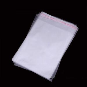 100 Standard Lip /& Tape Self Sealing Bags