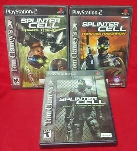 Clancy-039-s-Splinter-Cell-1-Chaos-Pandora-PS2-Playstation-2-Tested-Game-Lot