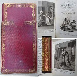 La-Tendresse-filiale-1812-E-Vigee-illustre-relie-cuir-de-russie-dans-son-etui