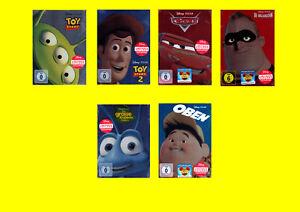 Steelbook-Paket-Disney-Pixar-Die-Unglaublichen-Cars-Oben-neu-amp-ovp