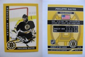 2015-SCA-Philippe-Sauve-Boston-Bruins-goalie-never-issued-produced-d-10-rare