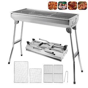 Barbecue à Charbon Pliable BBQ Grille Portable Table en Acier Camping Extérieur