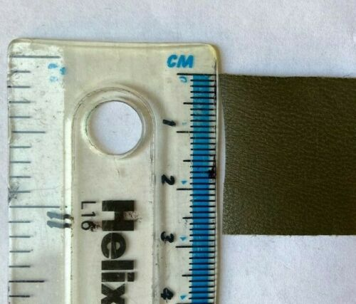 Leather Binding 28mm Khaki Green Ideal for Trimming and Crafts