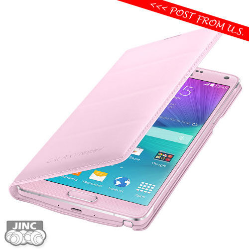 save off de93a 97ca9 Original Samsung Flip Wallet Cover Retail Packing for Galaxy Note 4 Pink