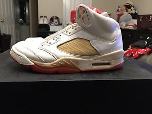 Size 7.5 Women s Size 6 Men s Air Jordan Retro 5 Sunset Bred ... 382a0fe12