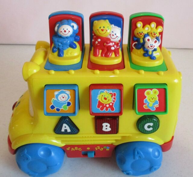 Wheels on the Bus Musical Pop-Up School Bus Fisher-Price ...  |Fisher Price Bus Nursery Rhymes