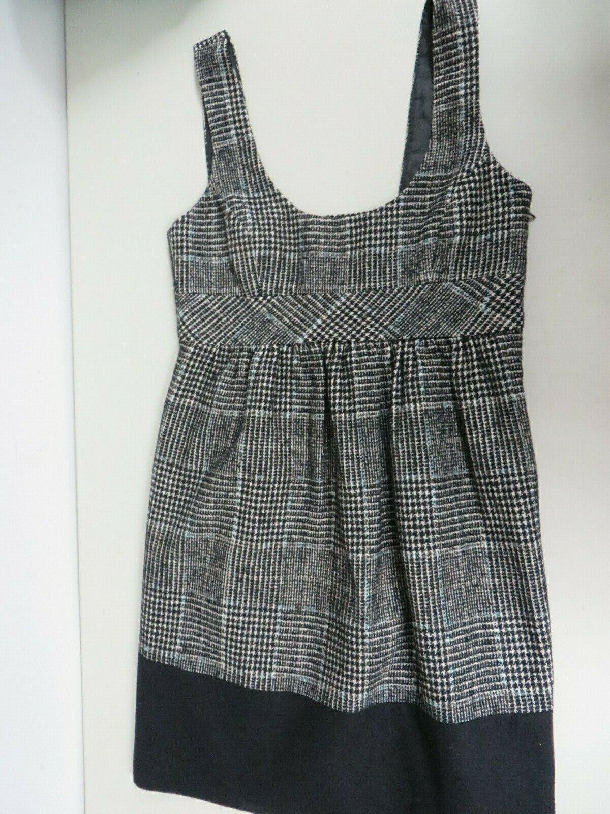 ZARA BASIC Wool blend Tweed Checkered Tartan  Bla… - image 1