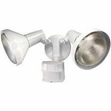 NEW HEATH ZENITH HZ-5412-WH WHITE MOTION SENSOR TWIN HALOGEN FLOOD LIGHT 6745855