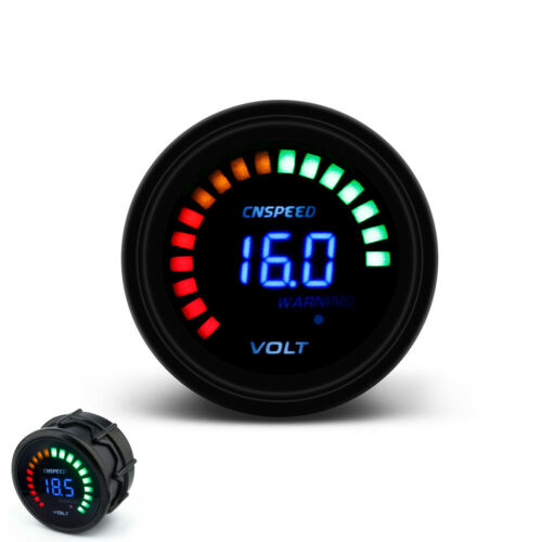 "2/"" inch 52mm Auto Car Digital 20 LED Volt Voltmeter Gauge Meter 7.5-20V Volts"