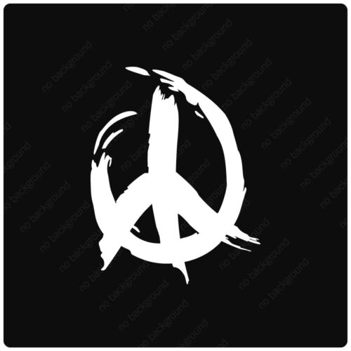 Peace Sign Paint Stroke Vinyl Decals Stickers HIPPIE LOVE LIVE CAR TRUCK ATV