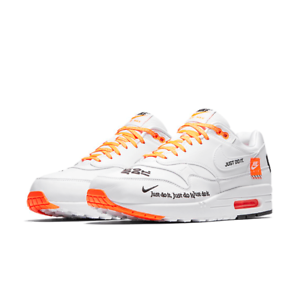 78b14bbb116a AO1021-100  Mens Nike Air Max 1 SE White Orange Just Do It ...
