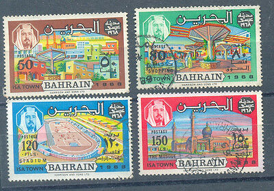Bahrain (1971-now) British Bahrain Yv#161/4 Complete Set Used Products Are Sold Without Limitations