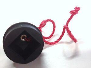 Black Rubber Chalk Holder on a String