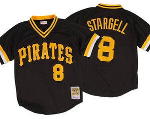 Mitchell-amp-Ness-Pittsburgh-Pirates-Willie-Stargell-1982-Authentic-Mesh-BP-Jersey