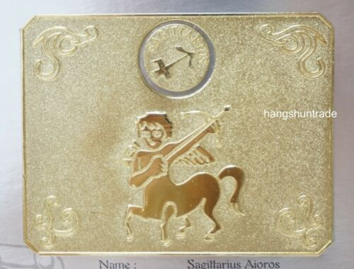 Bandai Saint Seiya Cloth Myth Sagittarius Aioros Premium Metal Plate Mat