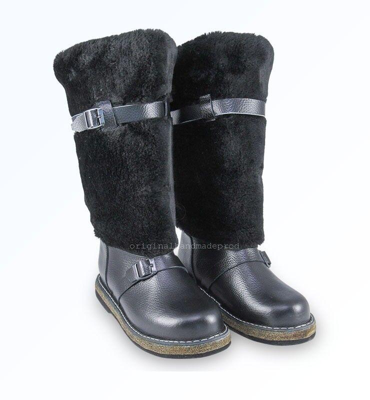 Russische High Fur Stiefel UNTY Pelzstiefel Schaffell Mukluks Winter Jagd Schuhe