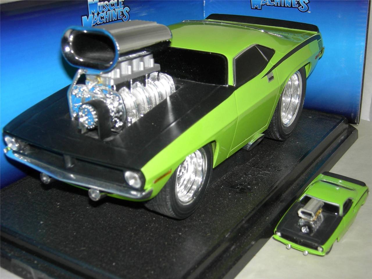 70 Kit de TI Cuda de construir Lite verde 1 64 y 1 18 coches escala Musc. mach.MIB1 18