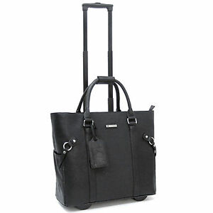 Cabrelli-Lacy-Lizard-Women-039-s-Rolling-Laptop-Bag-Wheeled-Briefcase-Case-716034U