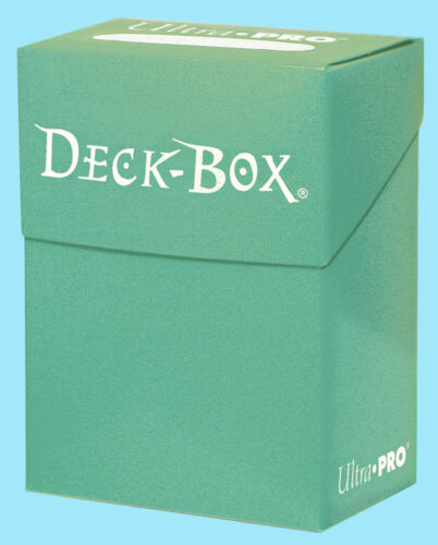 Ultra Pro DECK BOX AQUA Card Holder NEW Standard Small Size Gaming Storage MTG