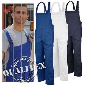 Qualitex-Latzhose-Blaumann-Basic-Arbeitshose-Montagehose-Worker-Pants-Latz-Hose