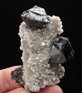 7652-Sphalerite-Dolomite-ca-5-7-4-cm-2002-Elmwood-Mine-Tennessee-USA-MOVIE