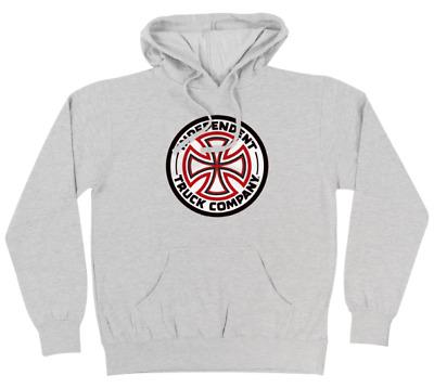 INDEPENDENT TRUCKS Cross Logo Athletic Heather Grey Mens Hooded Sweatshirt | eBay