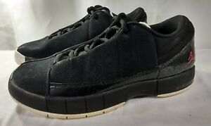 new concept c9c60 39561 Image is loading Nike-Air-Jordan-TE-II-Advance-Black-White-