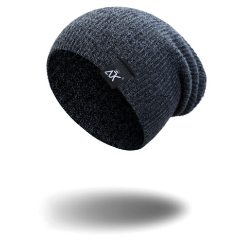 Women Men Camping Has Winter Beanie Baggy Warm Wool Ski Cap Fleece Line Unisex