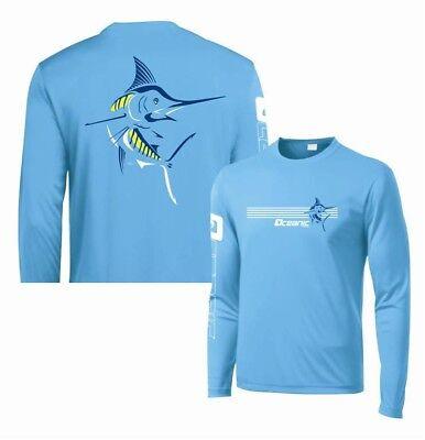 MARLIN ADULT UPF SZ S,M,L,XL 2XL,3XL JACKFISH Long Sleeve Fishing Shirt