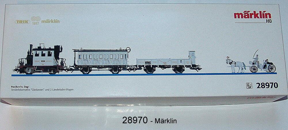 Märklin 28970 - Treno Matrimoniale 'Scatola di Vetro ' Nuovo Confezione