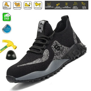 Womens Safety Shoes Steel Toe Cap Work Boots Indestructible Sports Mesh Sneakers