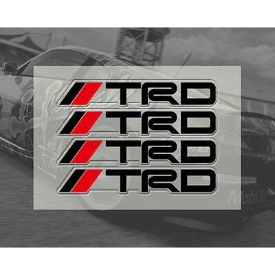 4 Pcs White TRD Door Handle Sticker Racing Badge For MR2 Auris Prius Yaris