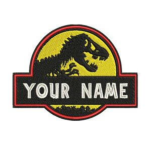 IRON-ON YOUR NAME ADULT Custom Ghostbusters Embroidered Name Tag Patch -