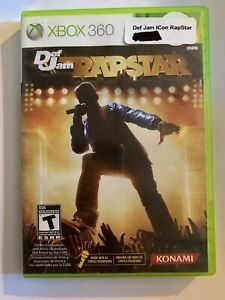 DEF JAM RAPSTAR - XBOX 360 - COMPLETE W/ MANUAL - FREE S/H - (T2)