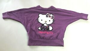 M-amp-S-per-neonate-T-shirt-Girocollo-Eta-12-18-mesi-viola-manica-lunga-Hello-Kitty