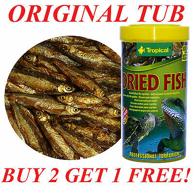 DRIED FISH NATURAL FOOD FOR REPTILES, TURTLES, LARGE TROPICAL FISHES 250ML.