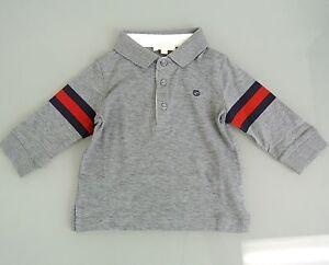 d5e555d7 New Authentic Gucci Kids Long Sleeve Polo Shirt w/BRB Web, 6-9 Month ...