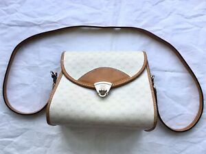Vintage-Gucci-ivory-beige-Women-039-s-Bag-Purse-with-leather-strap-001-133-2141-Used