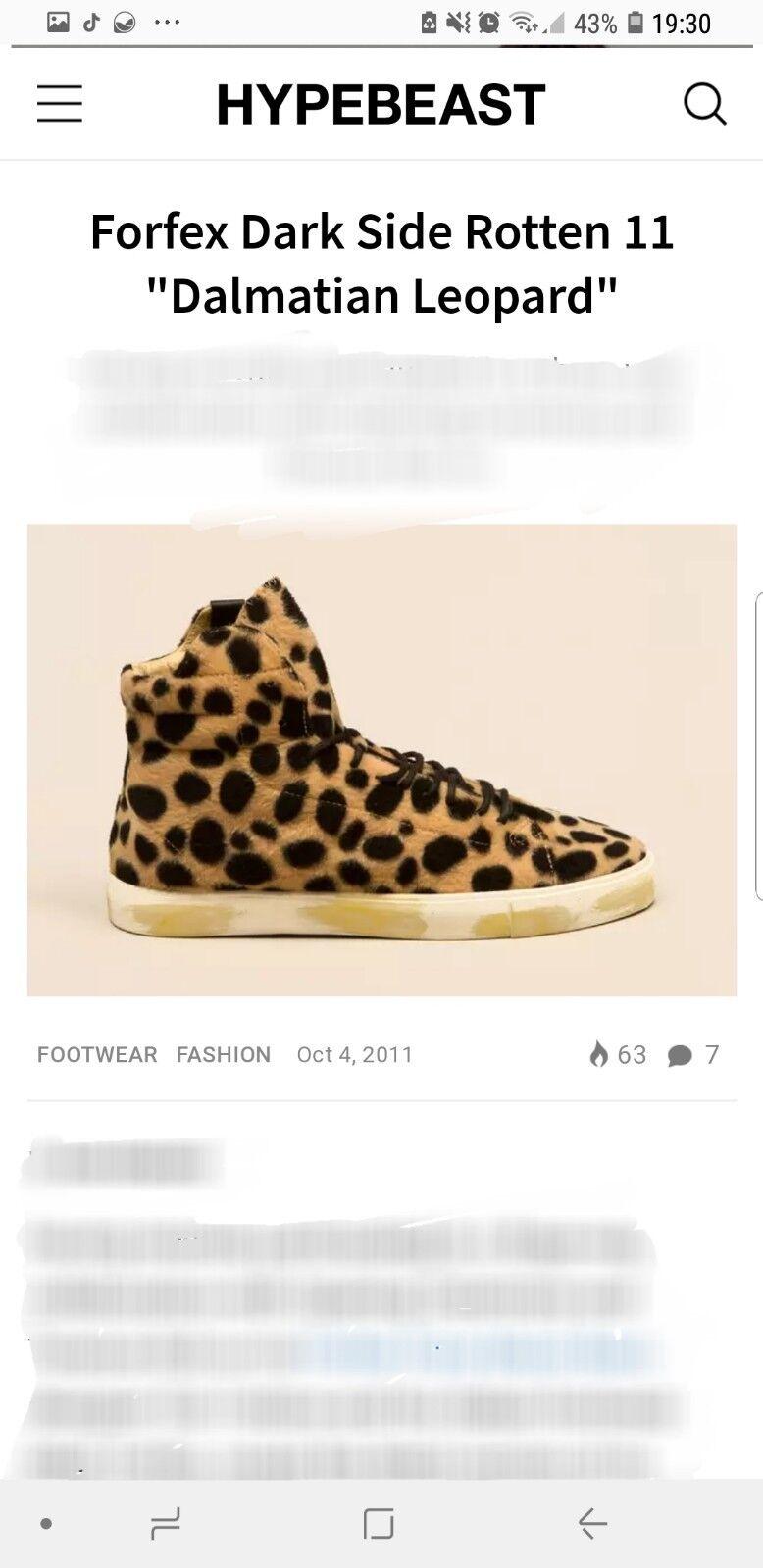2011 venduto fuori Forfex Leopardo Leopardo Leopardo Dalmata unisex Darkside MARCIO 11 Supreme Vintage | Prese tedesche  | Maschio/Ragazze Scarpa  6455b6