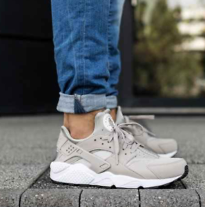 reputable site b3a60 08743 Image is loading Nike-Air-Huarache-318429-040-Cobblestone-White-mens-