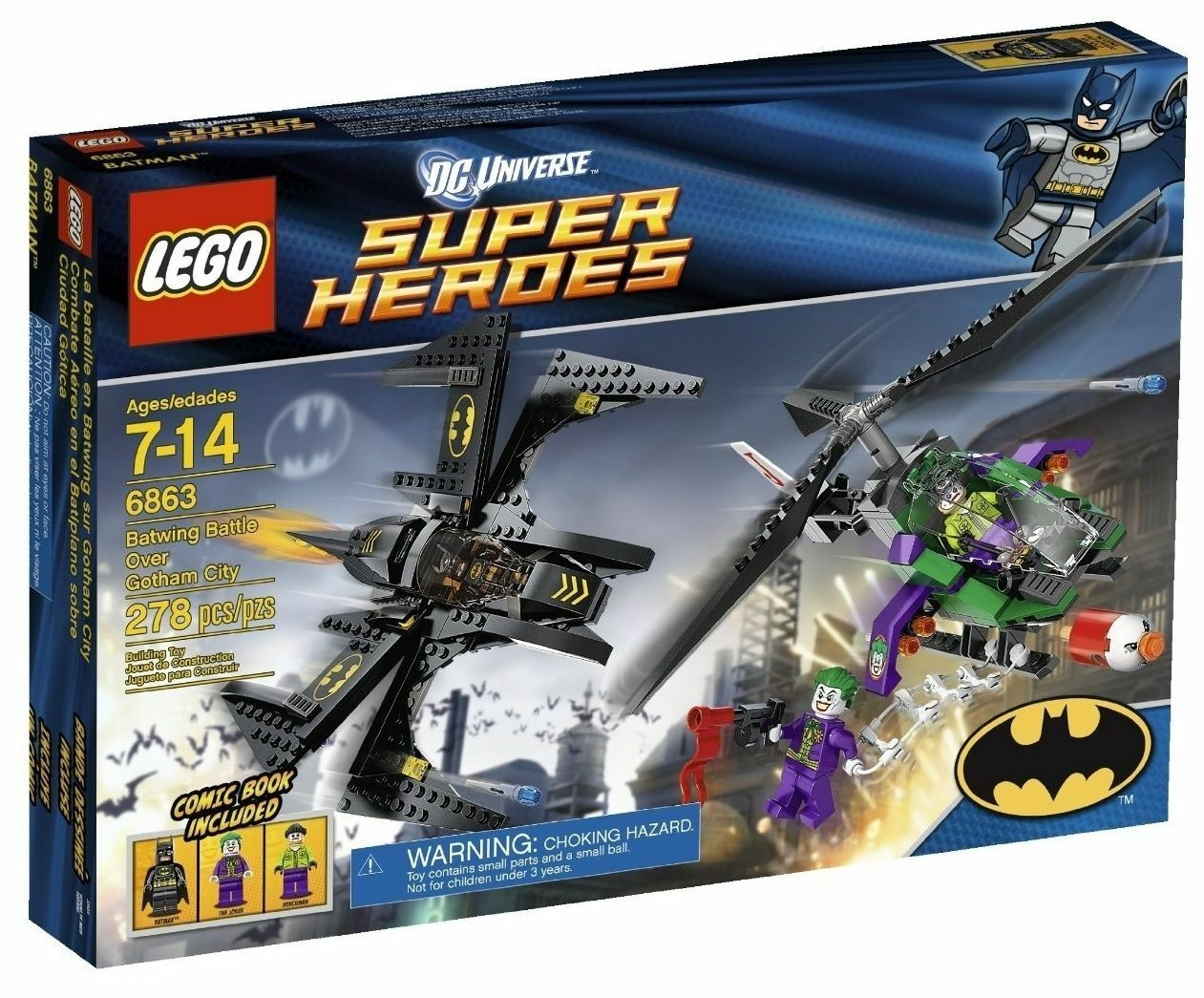 Lego 6863 Batman/Joker: Batwing Battle Over Gotham City SEALED NEW RETIrosso