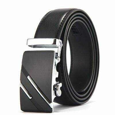 BNWT Men/'s High Quality Genuine Leather Dress Business Belt Black
